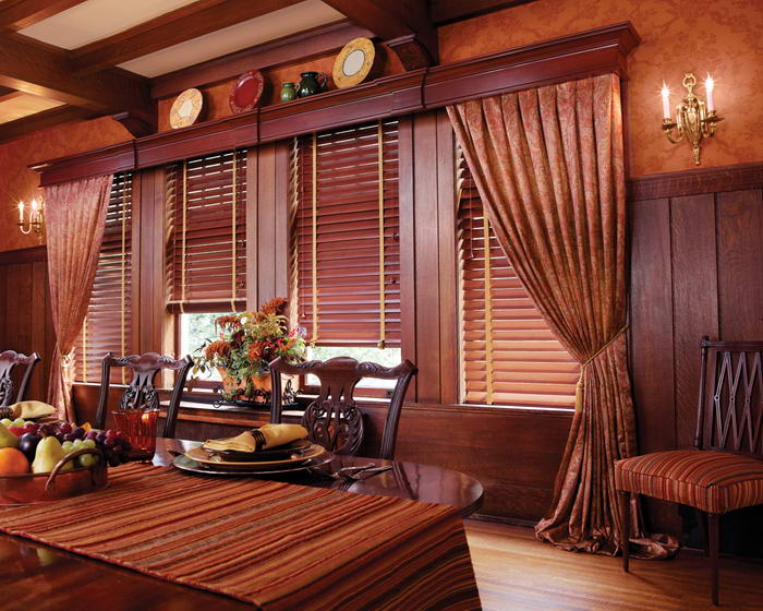 Wood And Faux Blinds