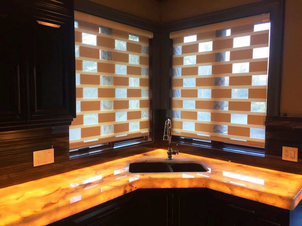 Recent Kitchen Blinds installed by Great Blinds, Canada